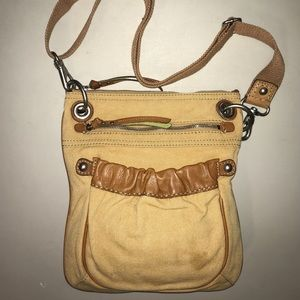 Fossil canvas crossbody